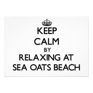 Keep calm by relaxing at Sea Oats Beach Florida Custom Invitations