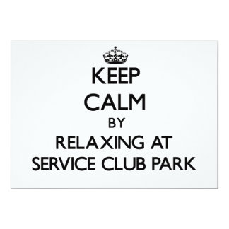 Keep calm by relaxing at Service Club Park Florida 5x7 Paper Invitation Card