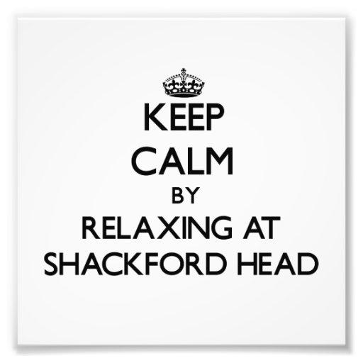 Keep calm by relaxing at Shackford Head Maine Photo