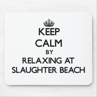 Keep calm by relaxing at Slaughter Beach Delaware Mouse Pads