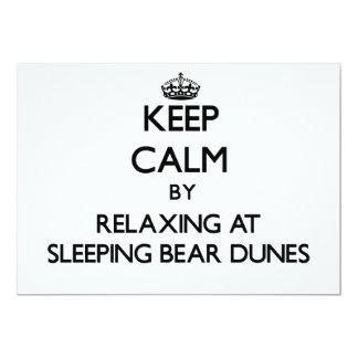 Keep calm by relaxing at Sleeping Bear Dunes Michi Custom Invites