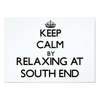 Keep calm by relaxing at South End Florida 5x7 Paper Invitation Card