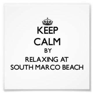 Keep calm by relaxing at South Marco Beach Florida Photo Art
