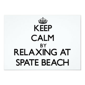 Keep calm by relaxing at Spate Beach Washington Invite