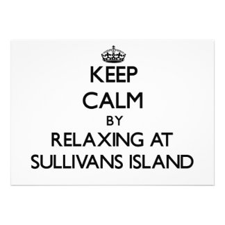 Keep calm by relaxing at Sullivans Island South Ca Personalized Invitations