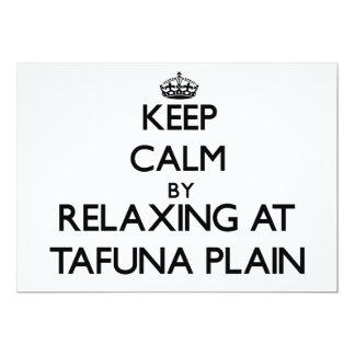 "Keep calm by relaxing at Tafuna Plain Samoa 5"" X 7"" Invitation Card"
