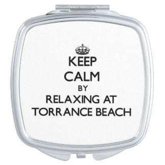 Keep calm by relaxing at Torrance Beach California Makeup Mirror