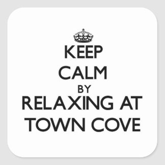 Keep calm by relaxing at Town Cove Massachusetts Sticker