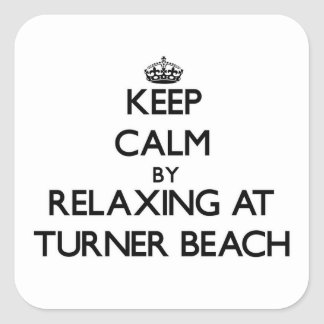 Keep calm by relaxing at Turner Beach Florida Stickers
