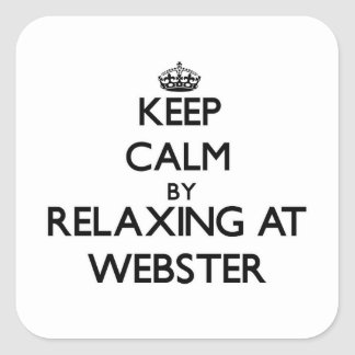 Keep calm by relaxing at Webster New Jersey Square Sticker
