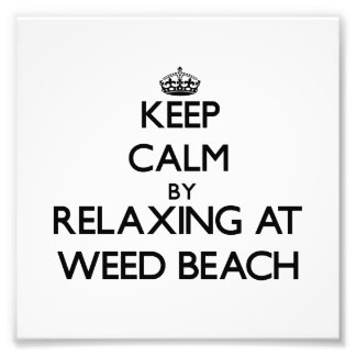 Keep calm by relaxing at Weed Beach Connecticut Photograph