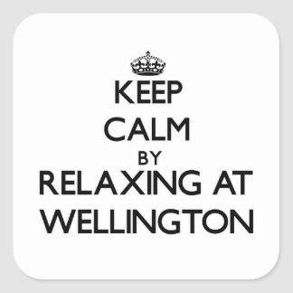 Keep calm by relaxing at Wellington Maryland Square Sticker