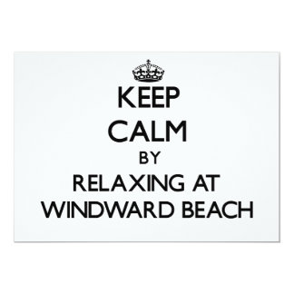 Keep calm by relaxing at Windward Beach New Jersey 5x7 Paper Invitation Card