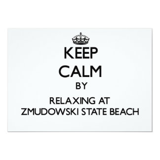 Keep calm by relaxing at Zmudowski State Beach Cal Personalized Invitation