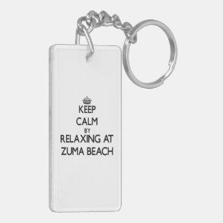 Keep calm by relaxing at Zuma Beach California Acrylic Key Chains