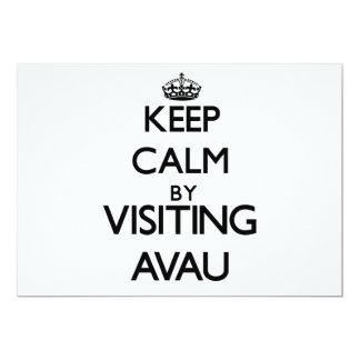 "Keep calm by visiting Avau Samoa 5"" X 7"" Invitation Card"