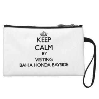 Keep calm by visiting Bahia Honda Bayside Florida Wristlet Clutch