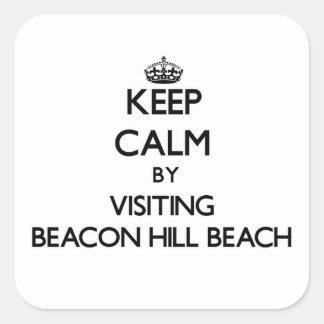 Keep calm by visiting Beacon Hill Beach Florida Square Sticker