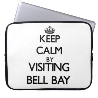 Keep calm by visiting Bell Bay Michigan Laptop Computer Sleeves