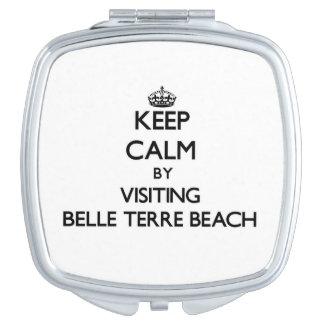 Keep calm by visiting Belle Terre Beach New York Vanity Mirrors