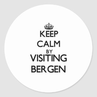 Keep calm by visiting Bergen New Jersey Stickers