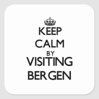 Keep calm by visiting Bergen New Jersey Square Sticker