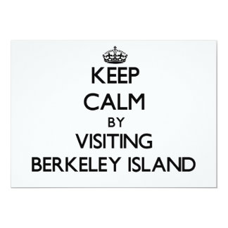 Keep calm by visiting Berkeley Island New Jersey 5x7 Paper Invitation Card