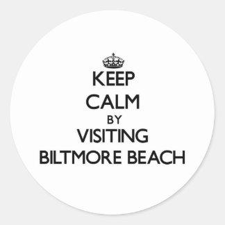 Keep calm by visiting Biltmore Beach Florida Sticker