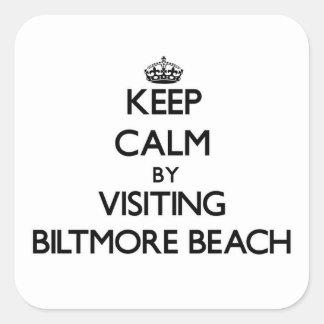 Keep calm by visiting Biltmore Beach Florida Square Sticker