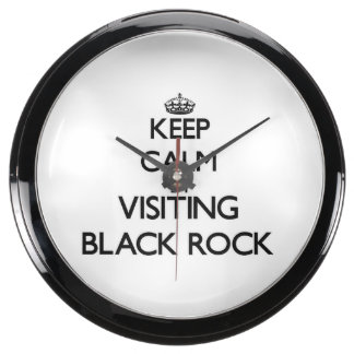 Keep calm by visiting Black Rock Massachusetts Aqua Clocks