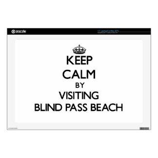 "Keep calm by visiting Blind Pass Beach Florida 17"" Laptop Skin"