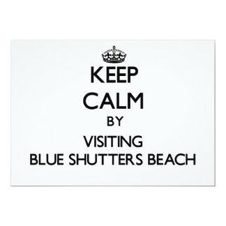 Keep calm by visiting Blue Shutters Beach Rhode Is 5x7 Paper Invitation Card