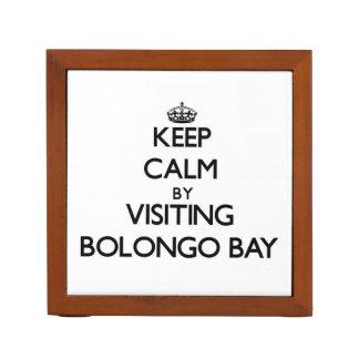 Keep calm by visiting Bolongo Bay Virgin Islands Desk Organizers