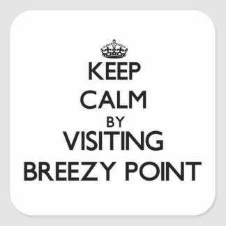 Keep calm by visiting Breezy Point Maryland Stickers