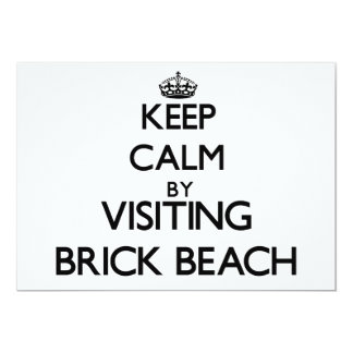 Keep calm by visiting Brick Beach New Jersey 5x7 Paper Invitation Card