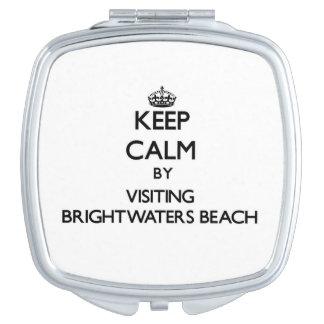 Keep calm by visiting Brightwaters Beach New York Vanity Mirror