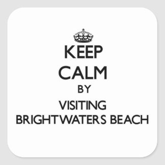 Keep calm by visiting Brightwaters Beach New York Square Sticker