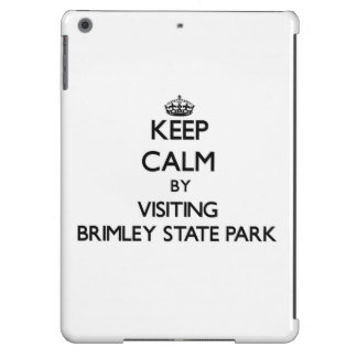 Keep calm by visiting Brimley State Park Michigan Case For iPad Air