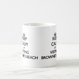 Keep calm by visiting Brownie'S Beach Maryland Coffee Mug