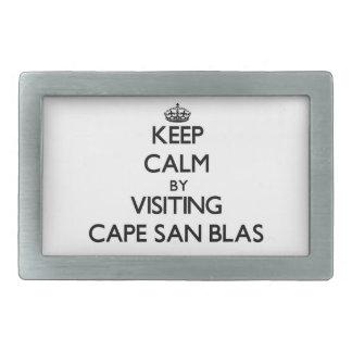 Keep calm by visiting Cape San Blas Florida Belt Buckles