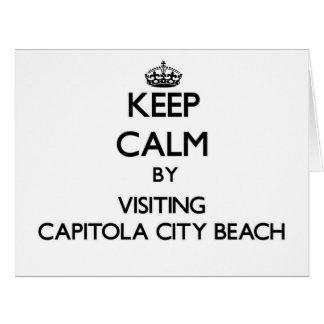 Keep calm by visiting Capitola City Beach Californ Card
