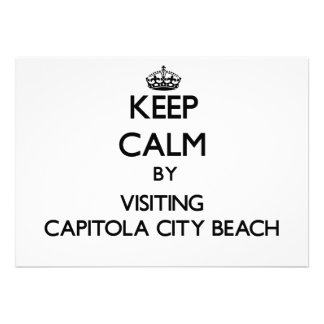 Keep calm by visiting Capitola City Beach Californ Announcements