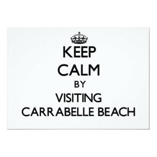 "Keep calm by visiting Carrabelle Beach Florida 5"" X 7"" Invitation Card"