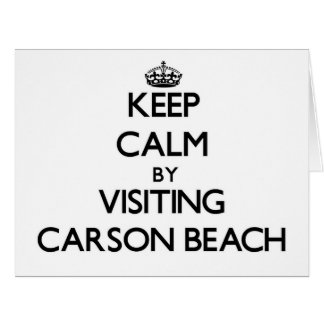 Keep calm by visiting Carson Beach Massachusetts Greeting Cards