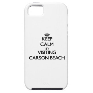 Keep calm by visiting Carson Beach Massachusetts iPhone 5 Cover