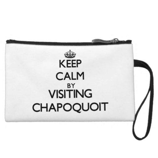 Keep calm by visiting Chapoquoit Massachusetts Wristlet Purse