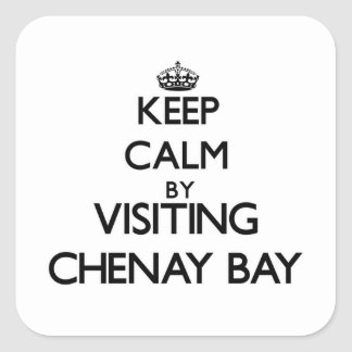 Keep calm by visiting Chenay Bay Virgin Islands Square Sticker
