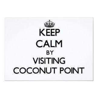 "Keep calm by visiting Coconut Point Samoa 5"" X 7"" Invitation Card"