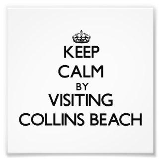 Keep calm by visiting Collins Beach Rhode Island Photographic Print