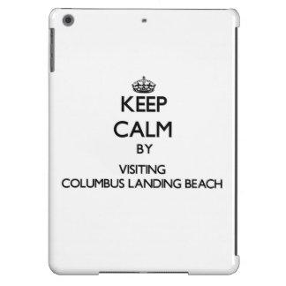 Keep calm by visiting Columbus Landing Beach Virgi iPad Air Case